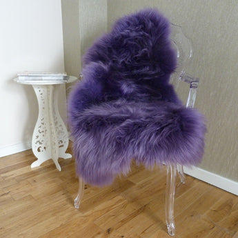 Sheepskin Rug UK - Purple