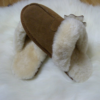 Natural Sheepskin Ladies Slippers