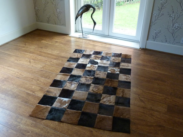 Patchwork Cowhide Rug PATCH161