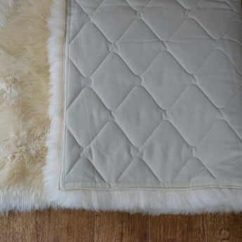 Rectangular Sheepskin Rug Champagne