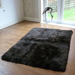 Rectangular Sheepskin Rug Dark Chocolate