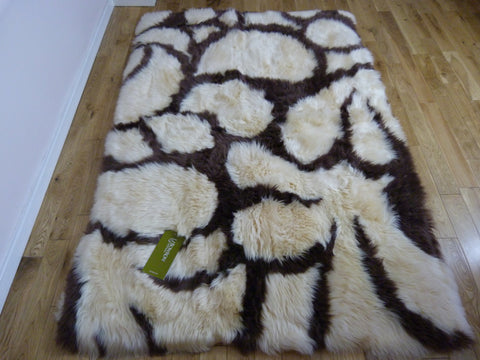 Rectangular Sheepskin Rug Baroque