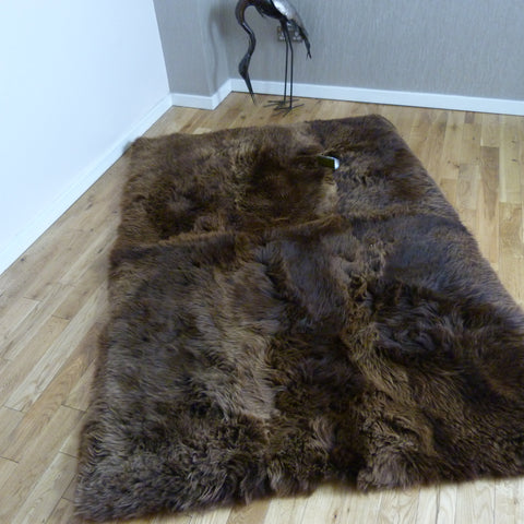 Rectangular Sheepskin Rug Natural Brown