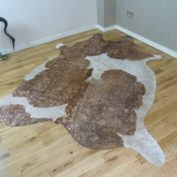 Rose Gold Metallic Cowhide Rug CM155