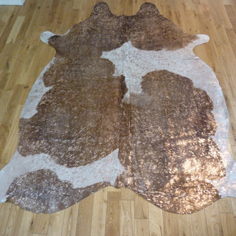 Rose Gold Metallic Cowhide Rug CM155a