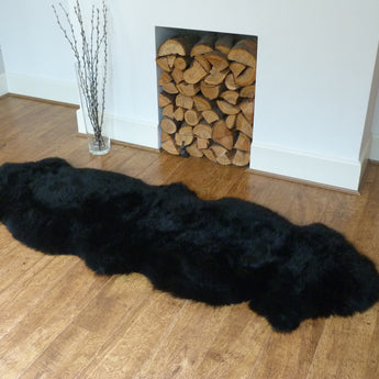 Sheepskin Rug Double Black