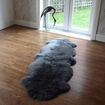 Sheepskin Rug Double Grey