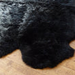 Sheepskin Rug Quad Black