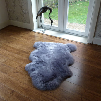 Sheepskin Rug Steel Grey