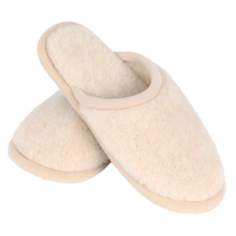 Camel and Merino Wool Unisex Slippers - Beige