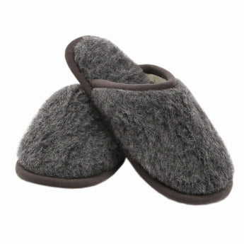 Merino Wool Unisex Slippers - Grey