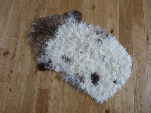Small Curly Tibetan Sheepskin Rug