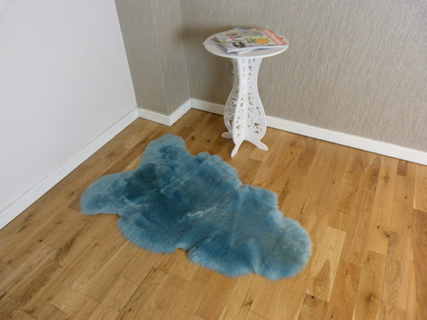 Sheepskin Rug UK - Aquamarine