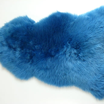British Sheepskin Rug - Azure Blue