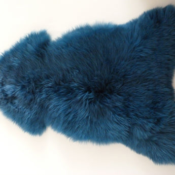 Sheepskin Rug UK - Dark Emerald Blue