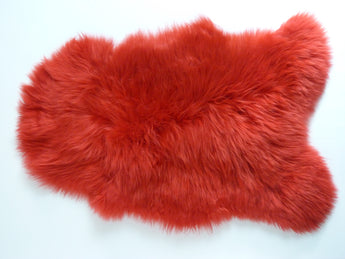 Sheepskin Rug UK - Red