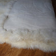 Large British Sheepskin Rug Natural Ivory 10 Skin