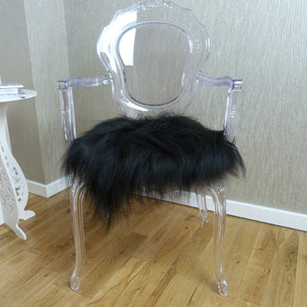 Icelandic Sheepskin Chair Pad Black