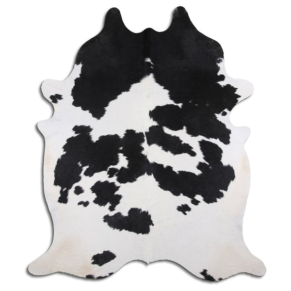 Cowhide Rug Black and White C454