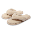Camel and Merino Wool Flip-Flop Slippers - Beige