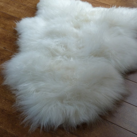 Icelandic Sheepskin Rug Ivory White Small