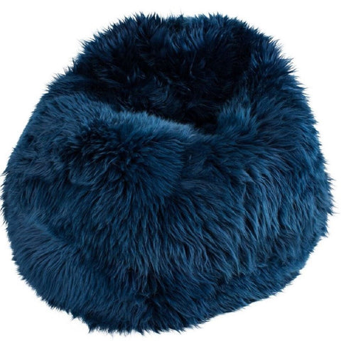 Sheepskin Bean Bag UK Navy Blue