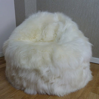 Sheepskin Bean Bag UK Ivory