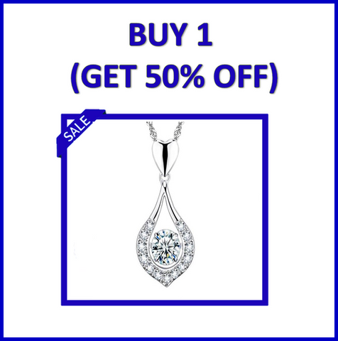Image of Twinkling Heart Waterdrop Stone Necklace