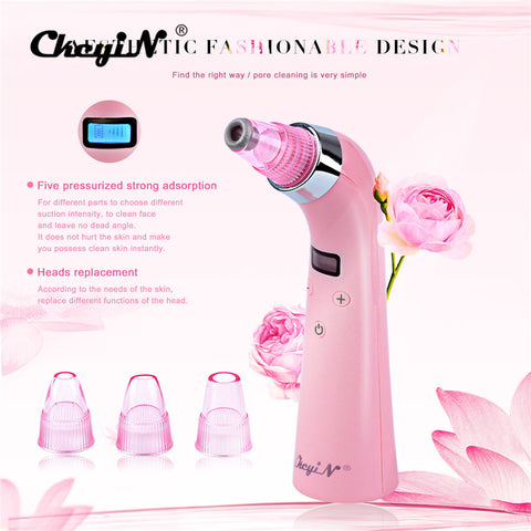 Image of 4 IN 1 Comedo Blackhead Vacuum Suction Diamond Dermabrasion Removal Scar Acne