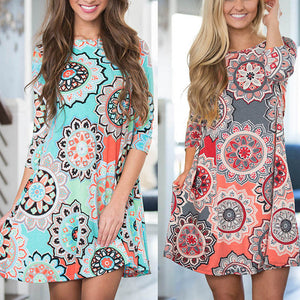 Beach Dress with Floral Print