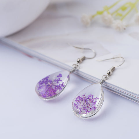 Image of 925 Sterling Silver Earrings Women Long Fashion