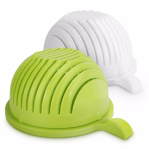 Image of Fruit Vegetables 60 Seconds Salad Cutter bowl Maker Support