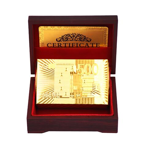 Gold-style plastic cards Black Poker table game