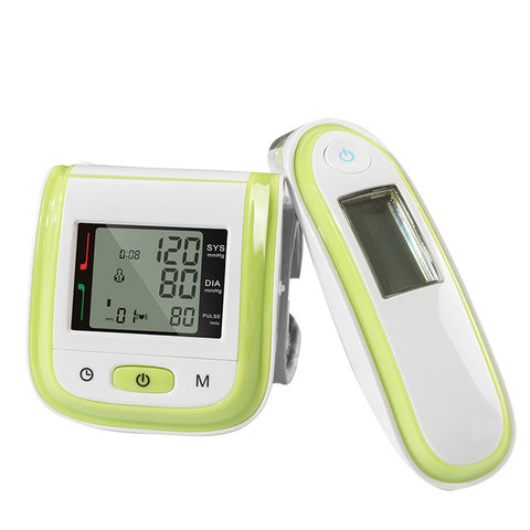 BOXYM Wrist Blood Pressure Monitor  Digital Infrared Ear Thermometer Tonometer