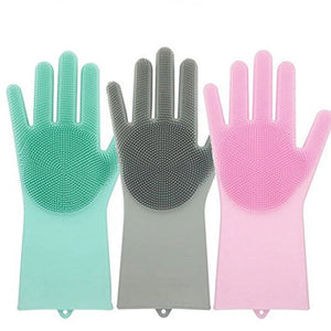 Silicone Rubber Cleaning Gloves