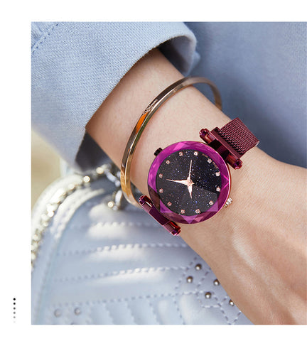 Image of Women Starry Sky Waterproof Watch