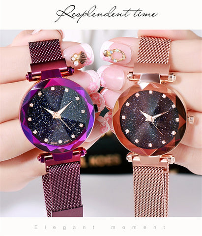 Women Starry Sky Waterproof Watch