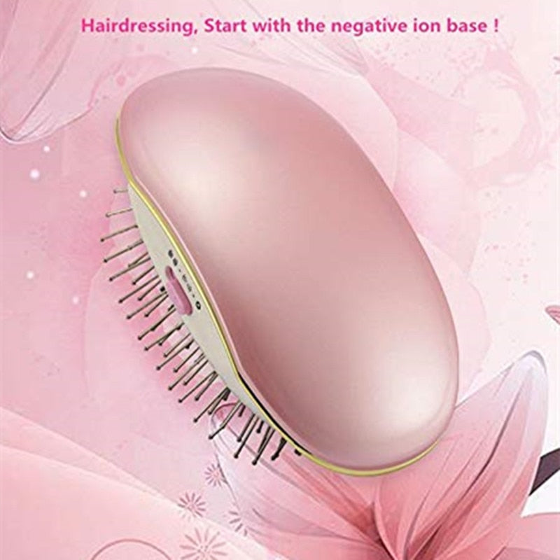 Portable Electric Ionic Hair Brush