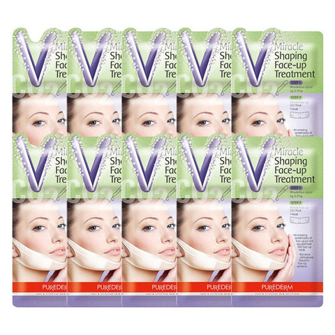 10 Pcs Miracle V-Shaped Slimming Mask