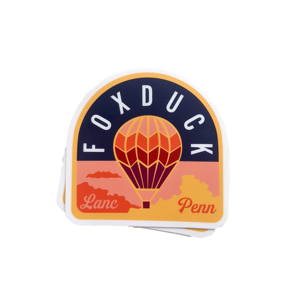 Foxduck Hot Air Balloon Sticker - Foxduck