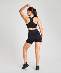 Seamless Sports Bra - Black