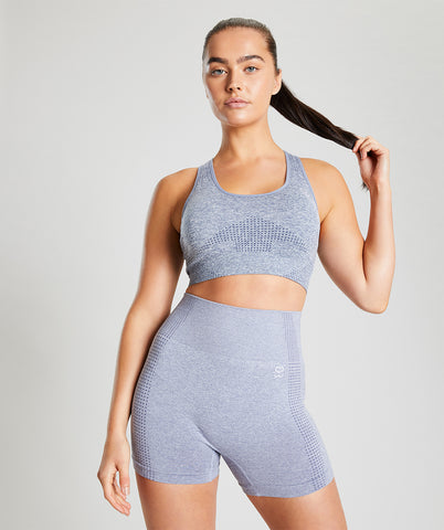 Seamless Sports Bra - Blue Marl