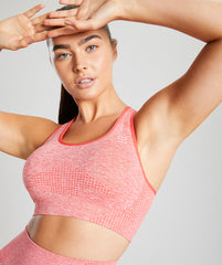 Seamless Sports Bra - Coral