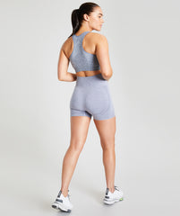 Seamless Shorts - Marl Blue