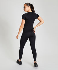 Seamless T-Shirt - Black