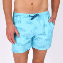 Load image into Gallery viewer, Holiday Van Print Swim Short
