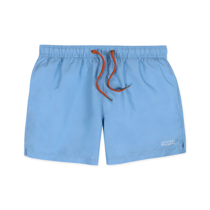OWSS2002 Chambray Blue Solid Colour Men's Recycled Polyester Swim Short