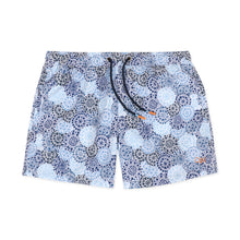 Load image into Gallery viewer, OWSS2003 Denim Blue Spot Print Men's Recycled Polyester Swim Short