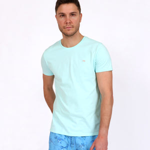 OWTS1903 Seafoam Green Original Weekend men's Organic cotton t-shirt on body front