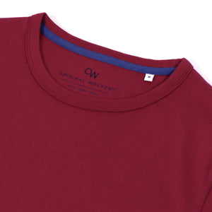 OWTS2004 Cherry Premium Box Fit GOTS Certified Organic Cotton Men's T-Shirt
